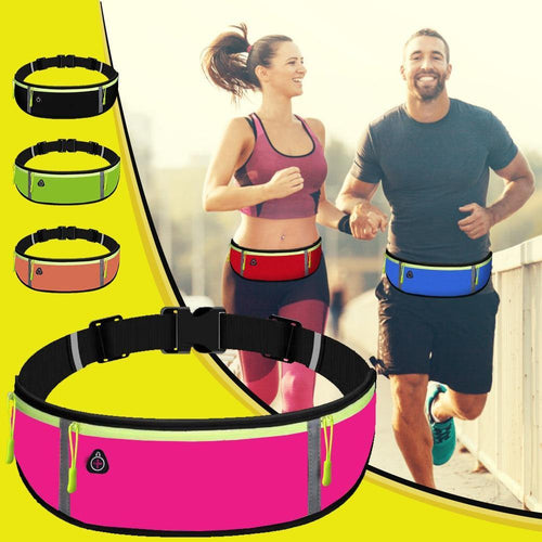 Men Women Waist Bag Running Sports Belt Waist Pouch Unisex Cycling Phone Bag Holder - EUFASHIONBAGS