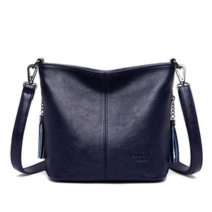 Fashion soft Leather Women Bucket Crossbody Bags Shoulder Bag Small Handbags v06 - EUFASHIONBAGS