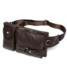 Load image into Gallery viewer, Genuine Leather Men's Waist Bags Fanny Pack Money Phone Pouch Bag Hip Men's Shoulder Bags - EUFASHIONBAGS
