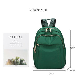 Waterproof Nylon Women's Backpack Large Capacity Lady Knapsack Casual Teenager School Bags Z12 - EUFASHIONBAGS