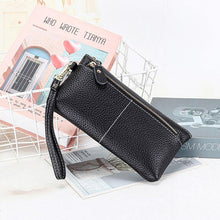 Load image into Gallery viewer, Genuine Leather Long Clutch Wallet Temperament Zipper Purse With Hand Rope - EUFASHIONBAGS