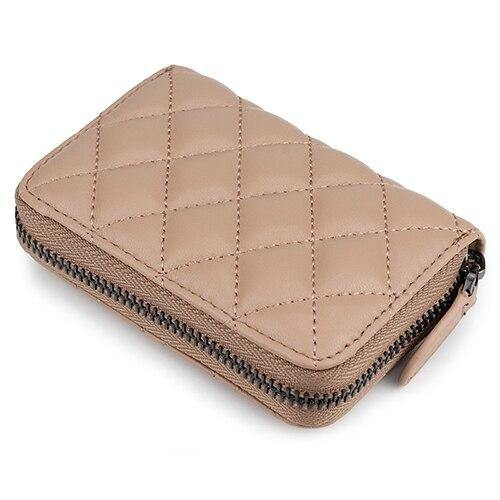 Sheepskin Card Wallet  Zipper Purse Short Style Women Wallets - EUFASHIONBAGS
