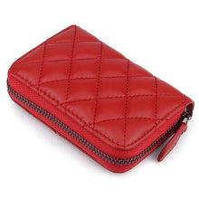 Load image into Gallery viewer, Sheepskin Card Wallet  Zipper Purse Short Style Women Wallets - EUFASHIONBAGS