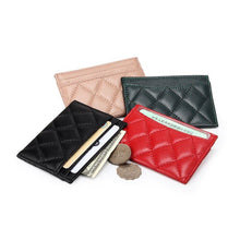 Load image into Gallery viewer, Sheepskin Card Wallet Women визитница для карт Ultra Thin Men Credit Card Holders - EUFASHIONBAGS