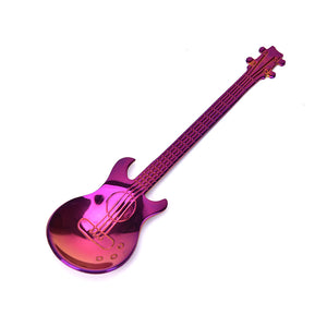 Stainless steel anodized guitar spoon colorful multicolor purple blue silver black gold rose