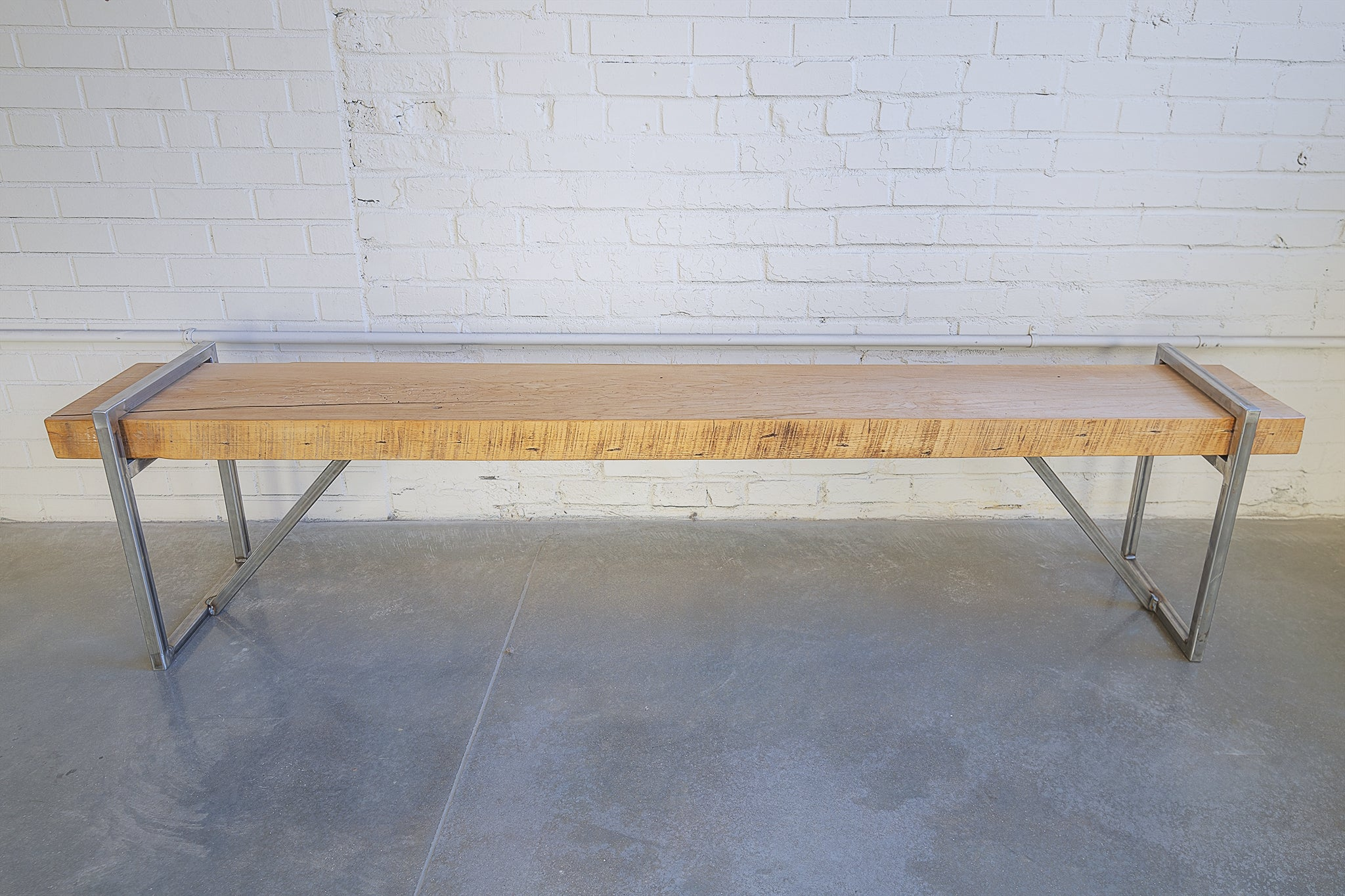 Wood Bench, Raw steel