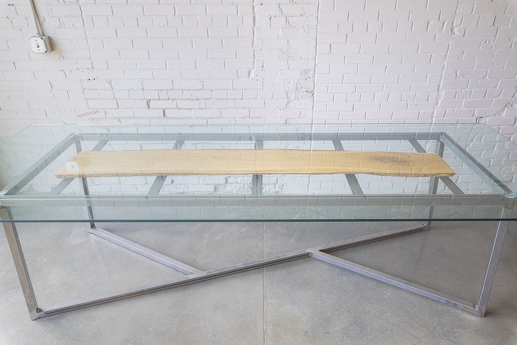 Parti Glass Top Conference Table