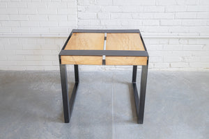 Side Table, Two Butcher Block tops,