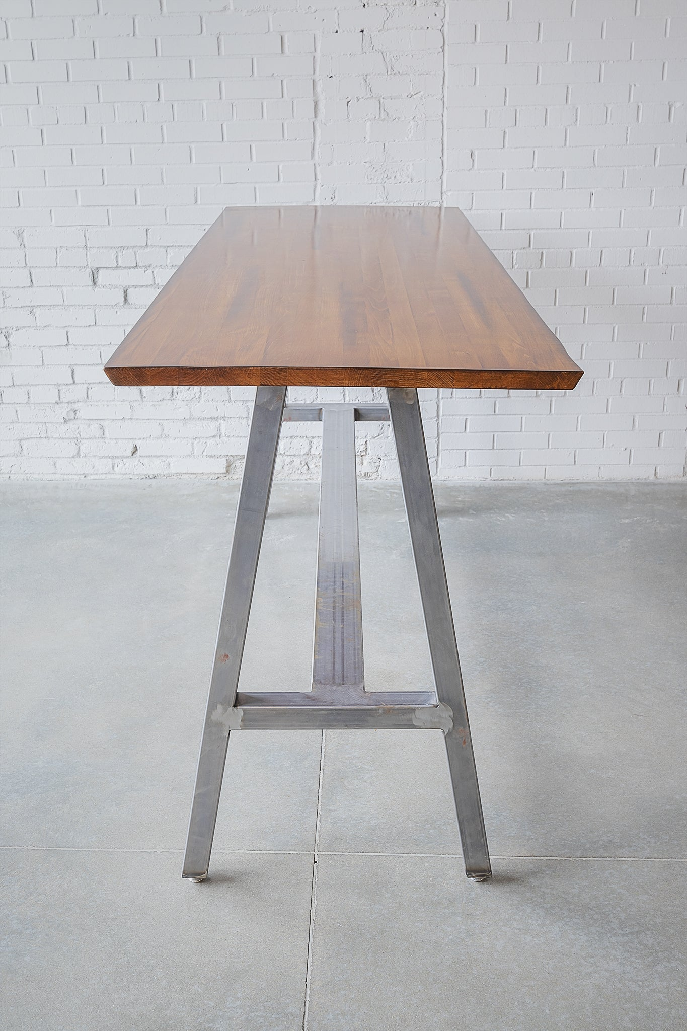 Vessel Rectangle High-Top Table W/ Footrest