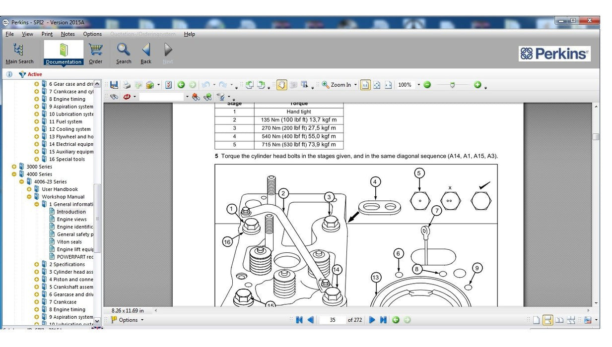 SPI2 V2015A Full Parts Catalog (EPC) & Service Information Software For Perkinss- Latest Version !