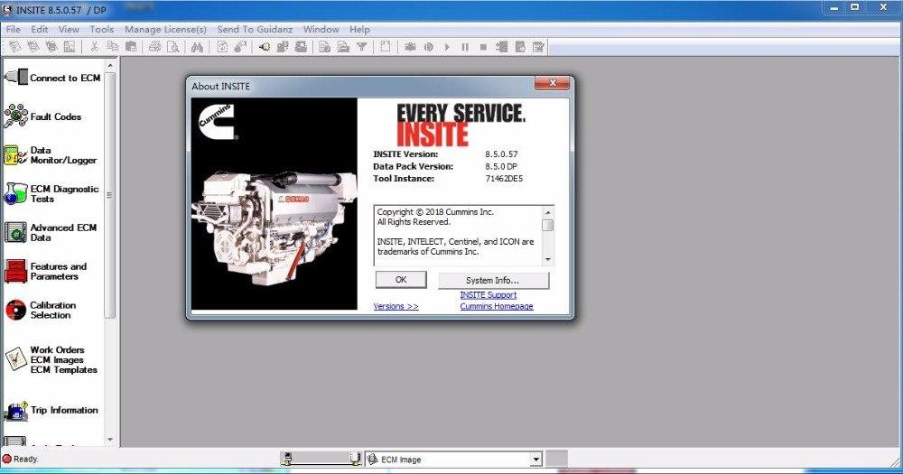Insite 8.5 Pro NEW Release 2019 - Cummins Diagnostic Software -Pro License & Ecm Password Removal + Fleet Calibration  - Online Installation Service !