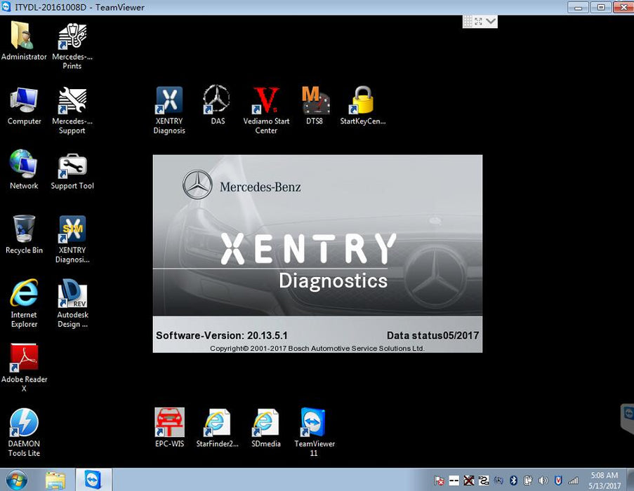 Diagnostic Software Pack For Mercedes - Include Latest Xentry And DAS Latest 2020 - Full Online Installation & Support Service !
