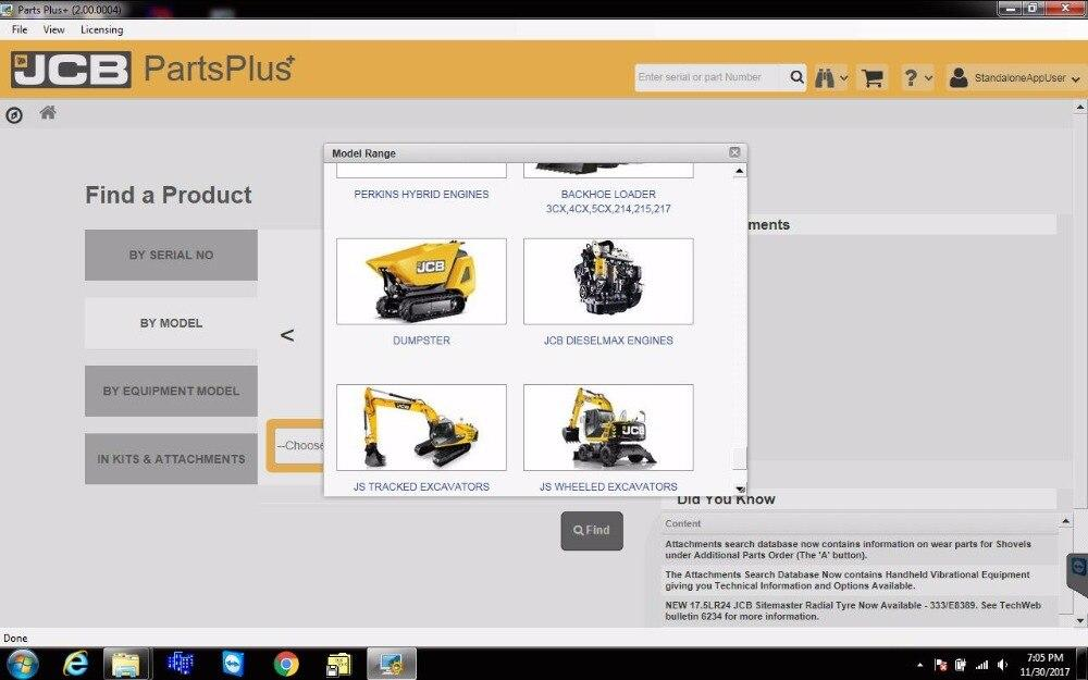 JCB ALL Models Parts Manuals Software EPC 2017 - Jcb Service Parts Plus 02\2017 And Service Manuals 2017