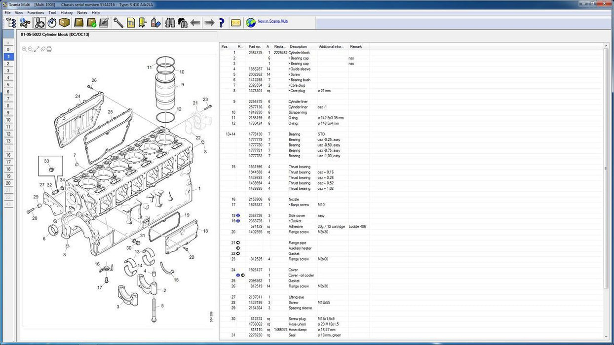 Scania Multi 2020 EPC Electronic Parts Catalog & Service Info - All Models Parts & Service Manuals Covered Up To 2020