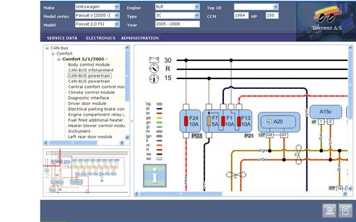Tolerance Data 2009 Software - Repair Data and Wiring Diagrams - Latest Version Up To 4 Pc's