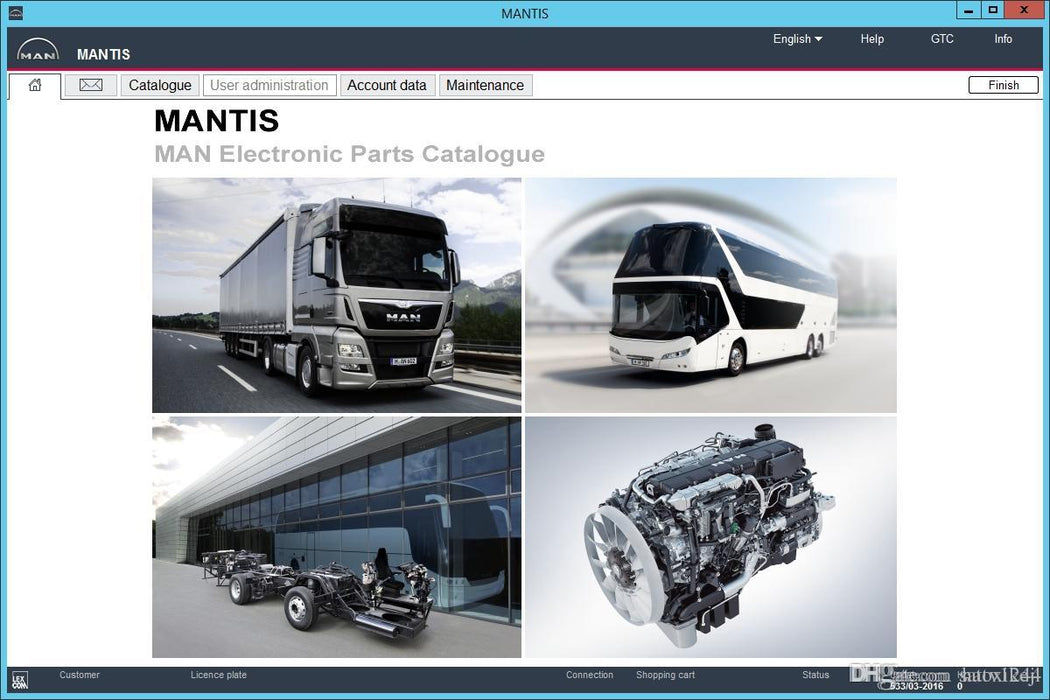 MAN Mantis 2019 EPC Electronic Parts Catalog - All Models Covered Up To 2019