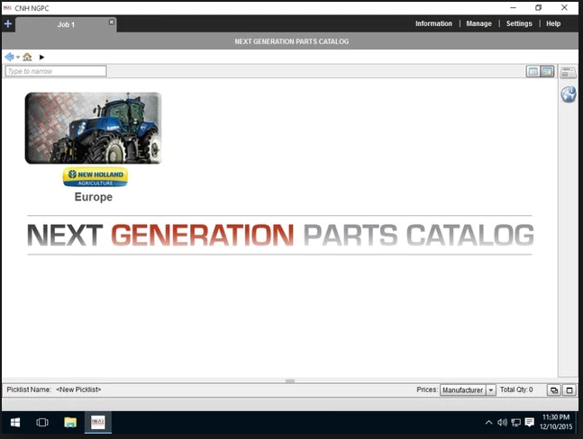 New Holland Next Generation AG Europe 2016 EPC -All Models & Serials Up To 2016 Parts Manuals