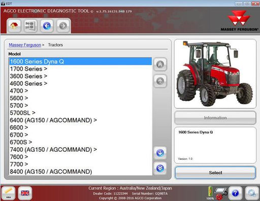 AGCO EDT Electronic Diagnostic Tool 1.99 - Activation For ALL Brands - New 2021 Version