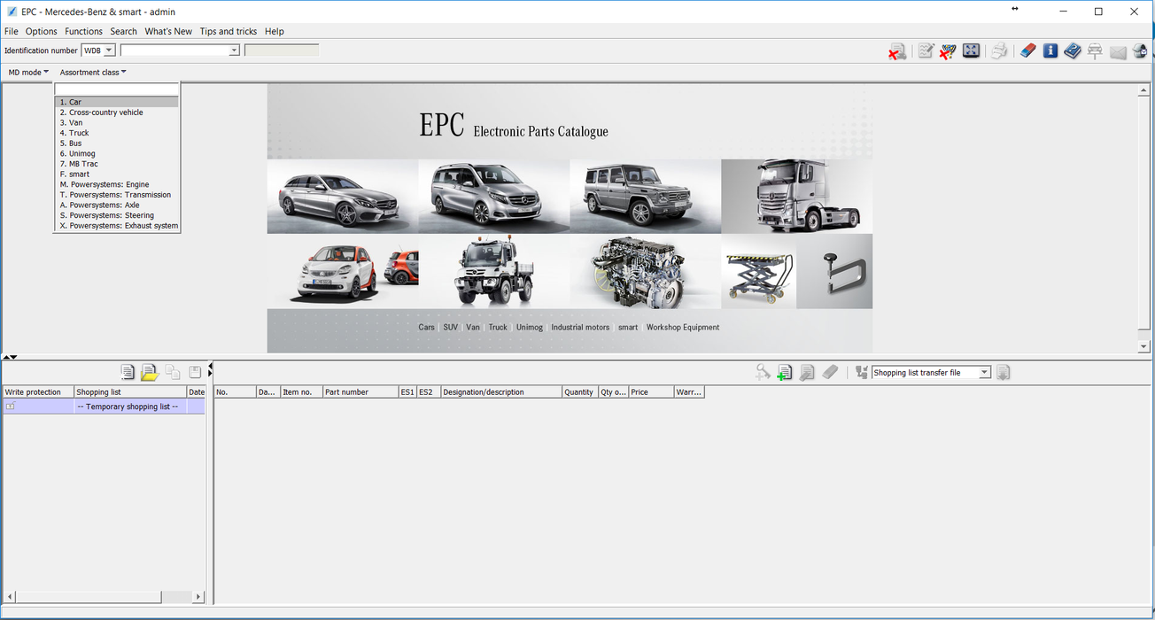 EPC , WIS / ASRA Net For Mercedes - Most Complete Version 04/2020