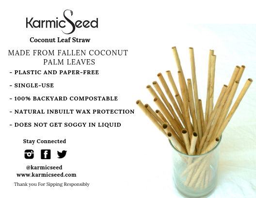 Coconut Leaf Straws - A quick overview