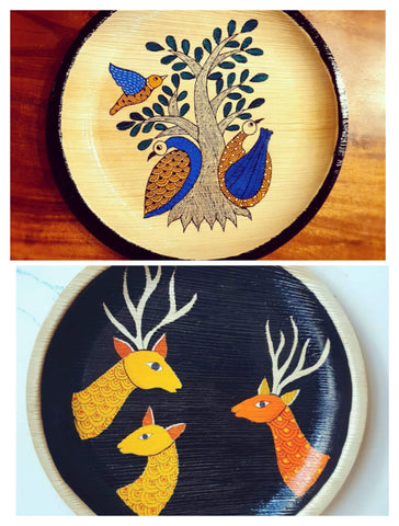 Art On Palm Leaf Plates