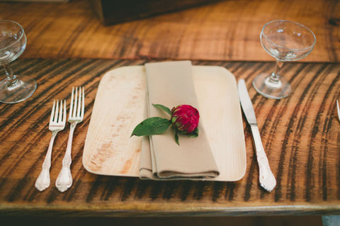 Palm leaf Compostable Plate at Wedding Ceremony