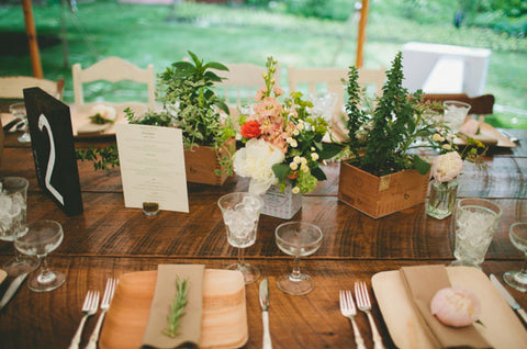 Palm leaf Plate at Wedding Ceremony
