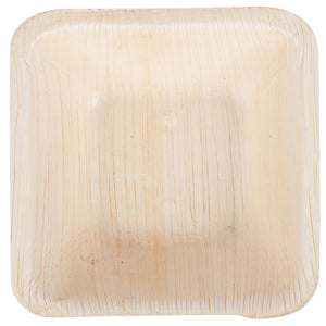 "Palm Leaf Deep Square Bowls 5"" Inch"