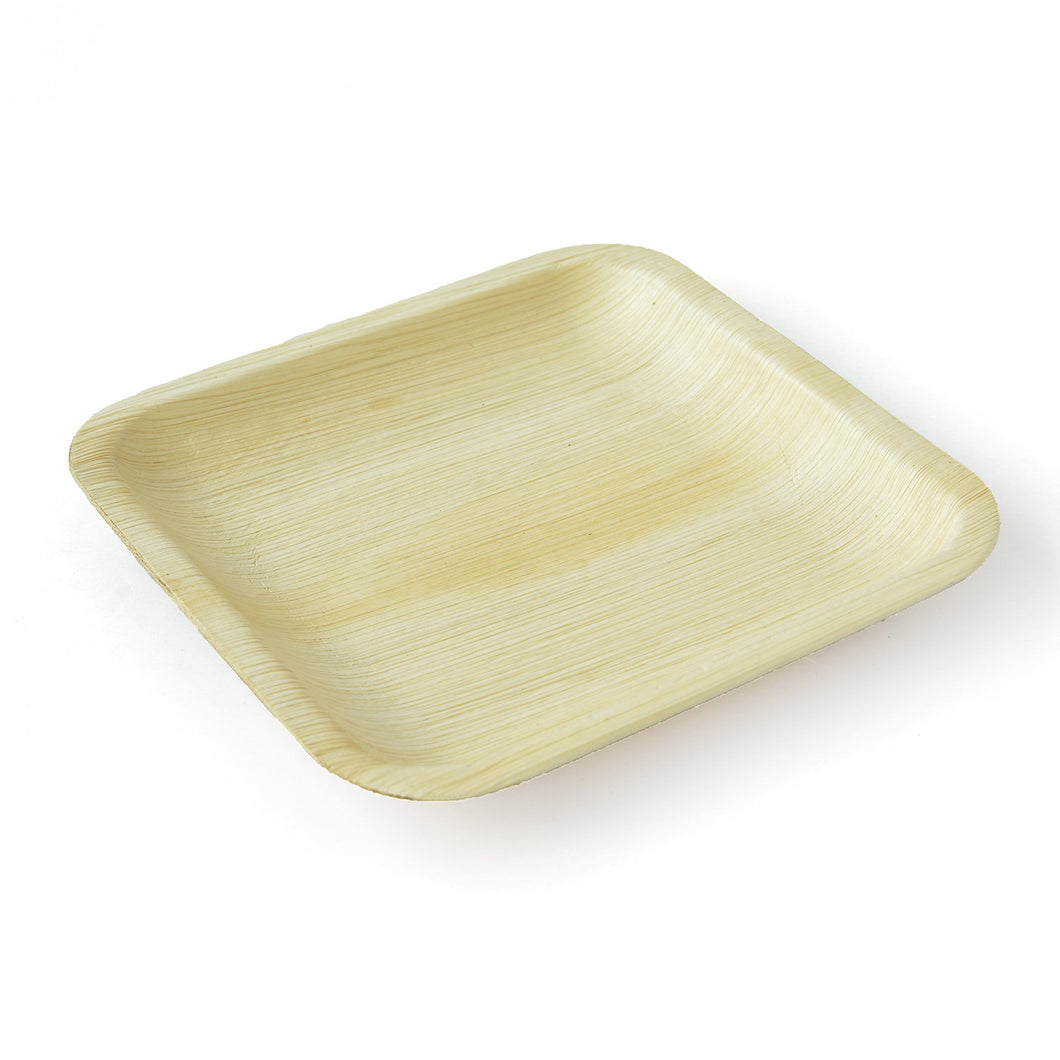 Areca Palm Leaf Square Plates 8