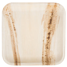 "Load image into Gallery viewer, Areca Palm Leaf Square Plates 9"" Inch (Set of 100/50/25) - FREE US Shipping"