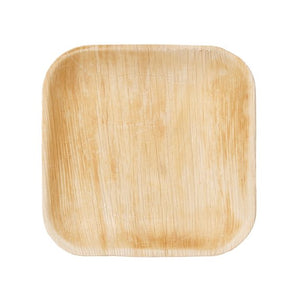 Areca Palm Leaf Square Plates 7""