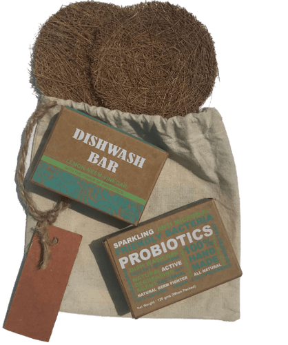 Karmic Seed Probiotic Dish Soap and Coir Scrubs