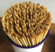 Load image into Gallery viewer, Eco-Friendly Natural Wheat Hay Drinking Straws (100 Straws)