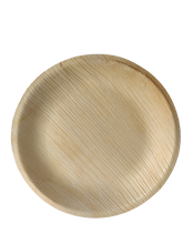 "Load image into Gallery viewer, Palm Leaf Plates Round 7"" Inch disposable plate"
