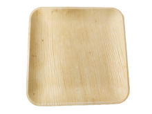 "Load image into Gallery viewer, Palm Leaf Plates Square 10"" Inch disposable"
