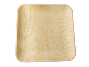 "Palm Leaf Plates Square 10"" Inch disposable"