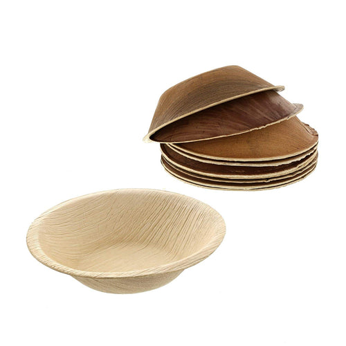 Disposable Areca Palm Leaf Round Bowls 5