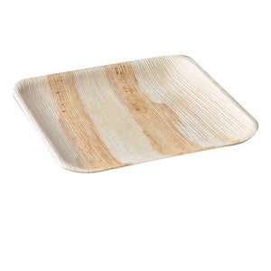 "Palm Leaf Square Plates 9"" Inch"