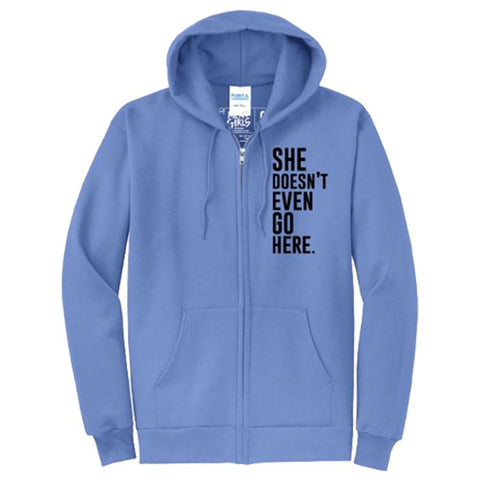 MEAN GIRLS Blue Zip Hoodie