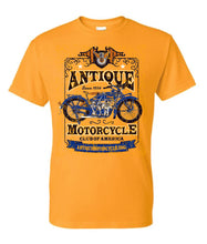 Load image into Gallery viewer, Tee: GOLD-1924 Indian Blue Front