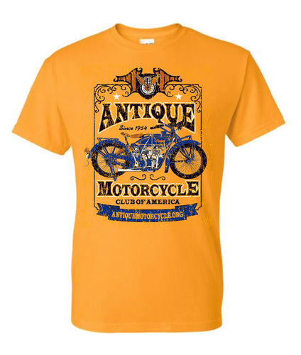 Tee: GOLD-1924 Indian Blue Front