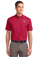 Load image into Gallery viewer, Dress Shirt: Embroidered Shirt with Color Logo