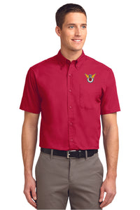 Dress Shirt: Embroidered Shirt with Color Logo