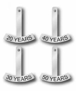 Anniversary Rocker-20 Year: for Winged Anniversary Pin