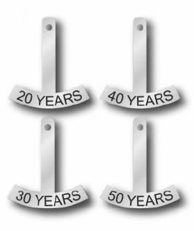 Anniversary Rocker-40 Year: for Winged Anniversary Pin