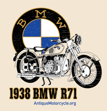 Load image into Gallery viewer, Tee: Natural - 1938 BMW R71