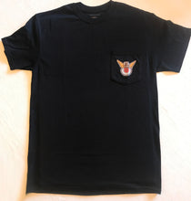Load image into Gallery viewer, Pocket Tee Short Sleeve: BLACK with color Logo Front and Back
