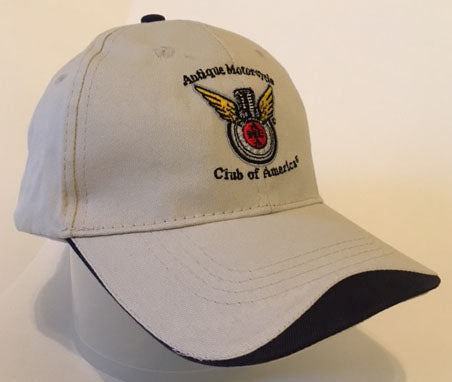 Hat: STONE/NAVY-Embroidered Club Logo