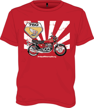 Load image into Gallery viewer, Tee: RED - 1969 Honda CB750