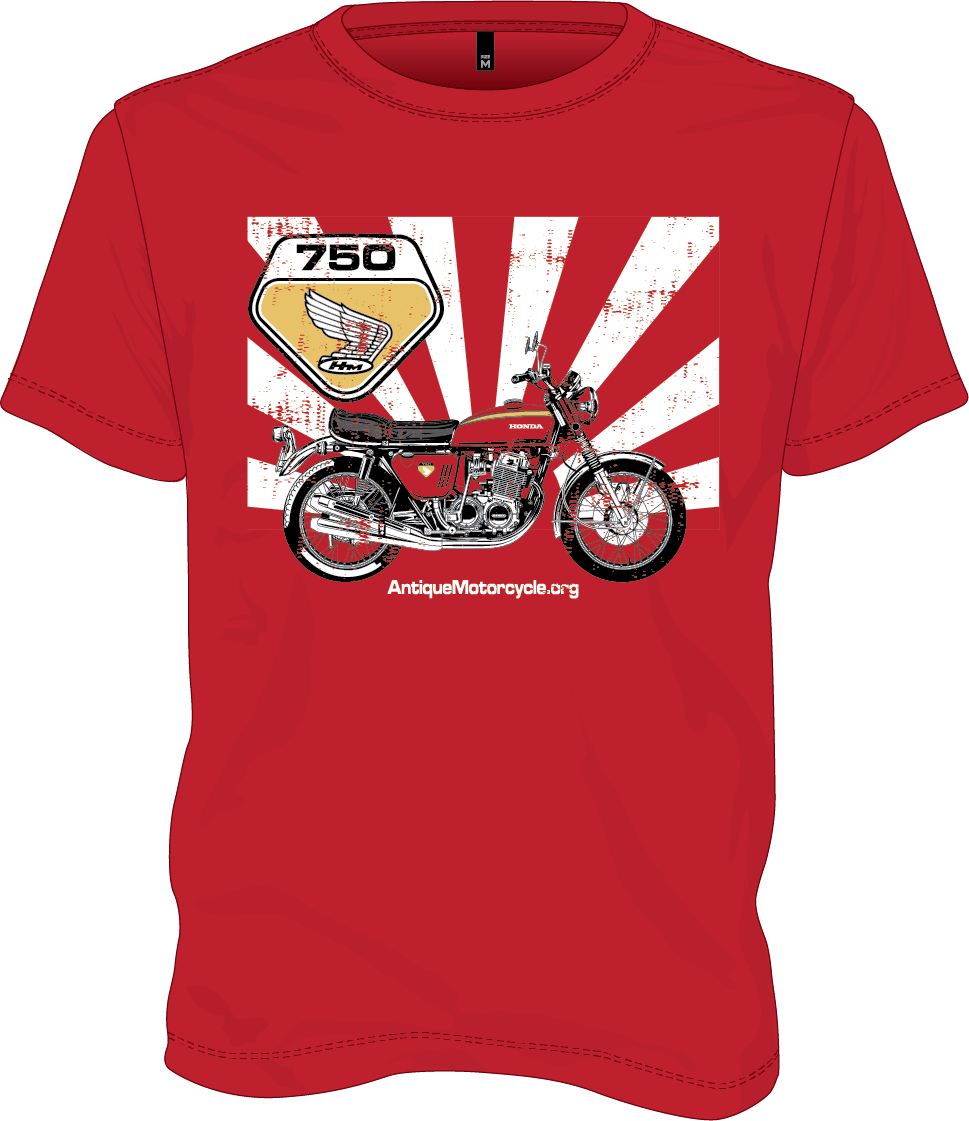 Tee: RED - 1969 Honda CB750
